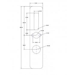 Maskownica 72 mm do Apartlock P2